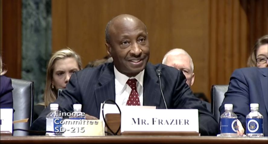 Kenneth Frazier, chairman and CEO of Merck, testified before the Senate Finance Committee Feb. 26.