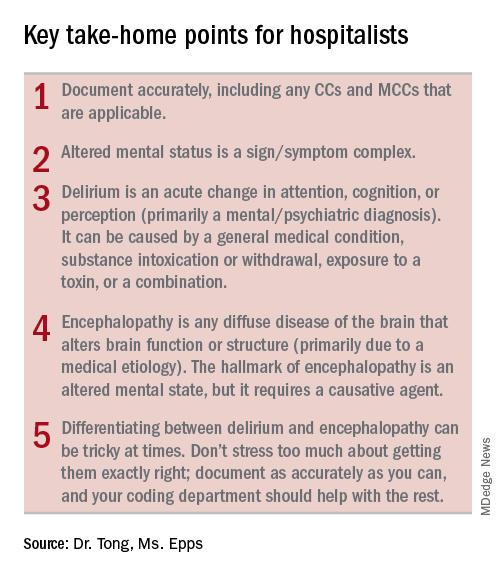 Key take-home points for hospitalists