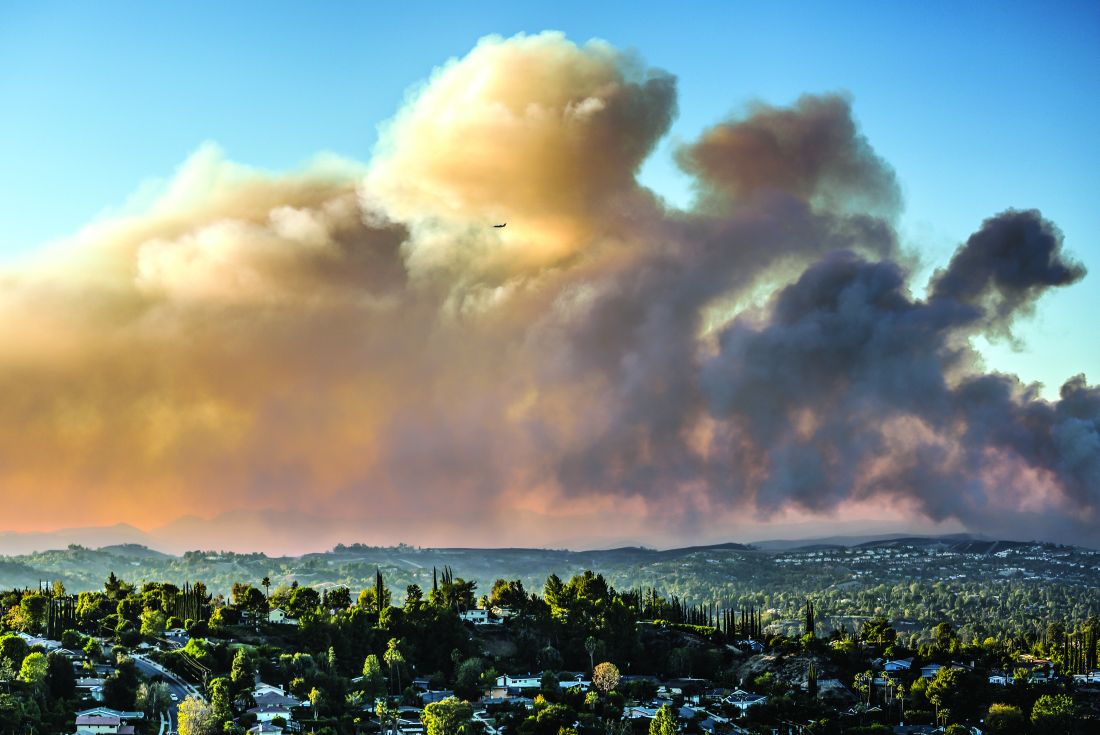 The Woolsey Fire as seen from Topanga, Calif., on Nov. 9, 2018. The wildfire burned more than 96,000 acres and destroyed more than 1,600 structures.