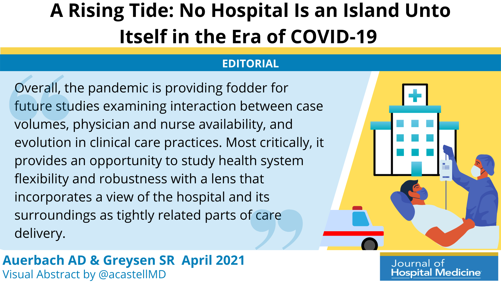 A Rising Tide: No Hospital Is an Island Unto Itself in the Era of COVID-19