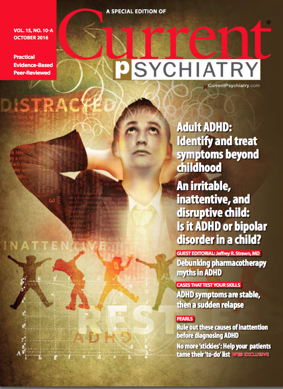 Cover Image of the October 2016 ADHD Special Issue of Current Psychiatry
