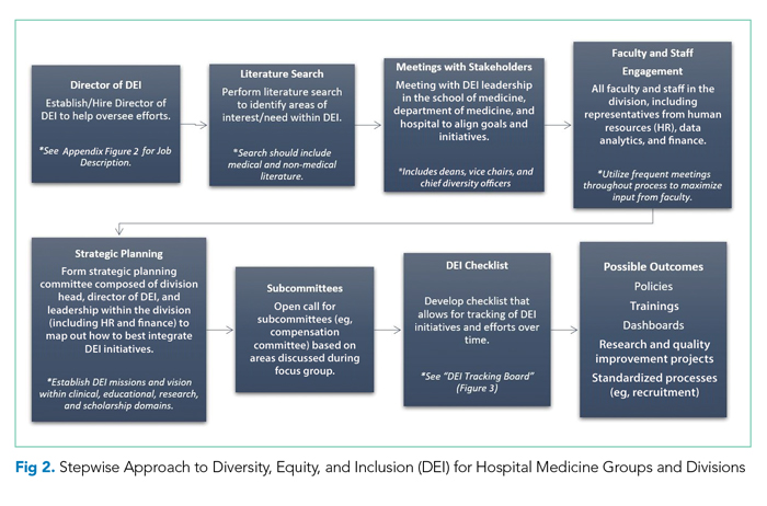 Stepwise Approach to Diversity, Equity, and Inclusion for Hospital Medicine Groups and Divisions