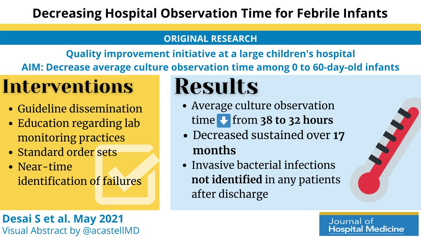 Decreasing Hospital Observation Time for Febrile Infants