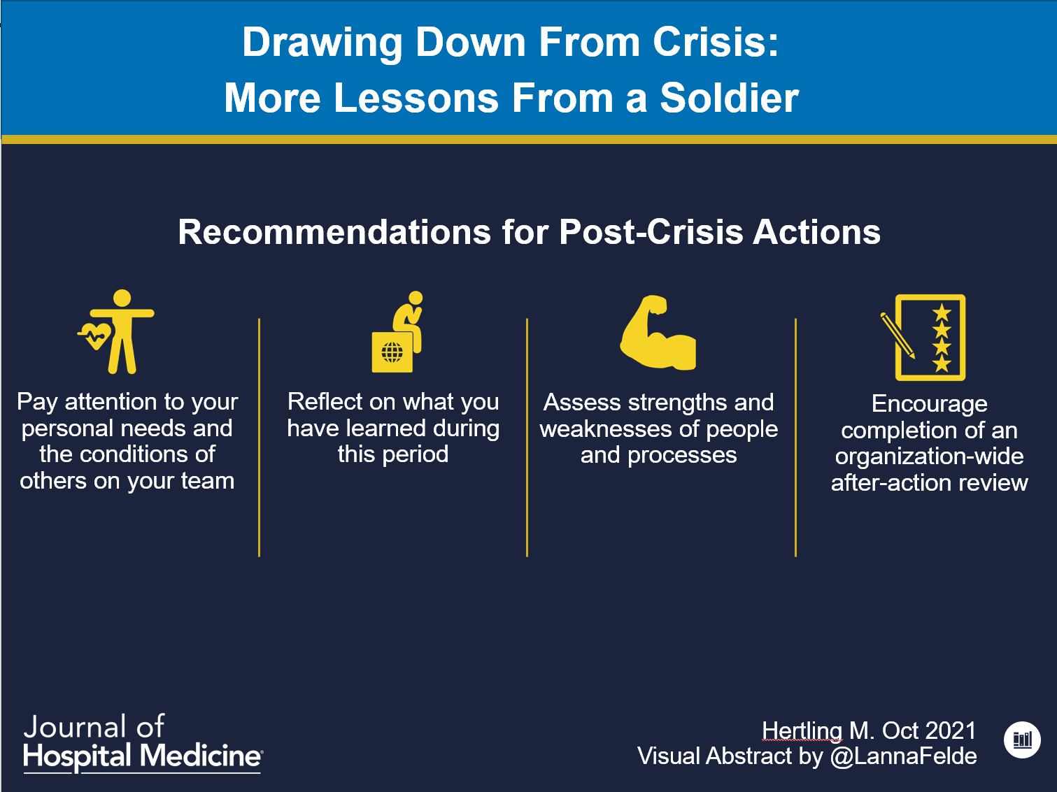 Drawing Down From Crisis: More Lessons From a Soldier