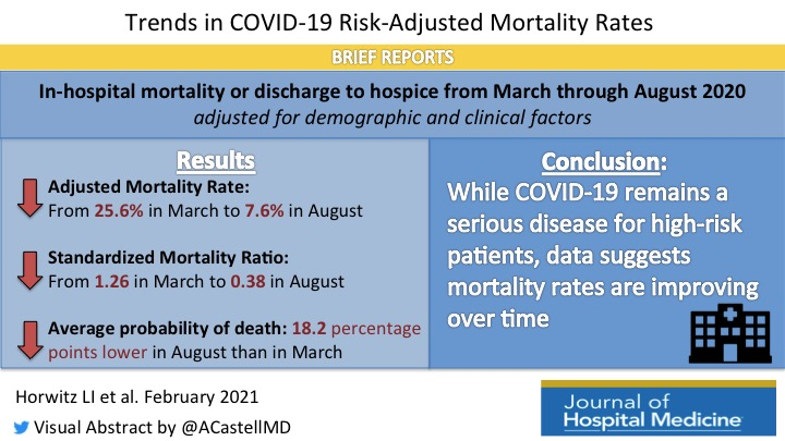 Trends in COVID-19 Risk-Adjusted Mortality Rates