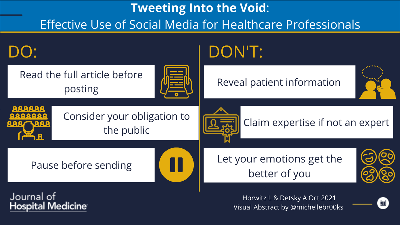 Tweeting Into the Void: Effective Use of Social Media for Healthcare Professionals