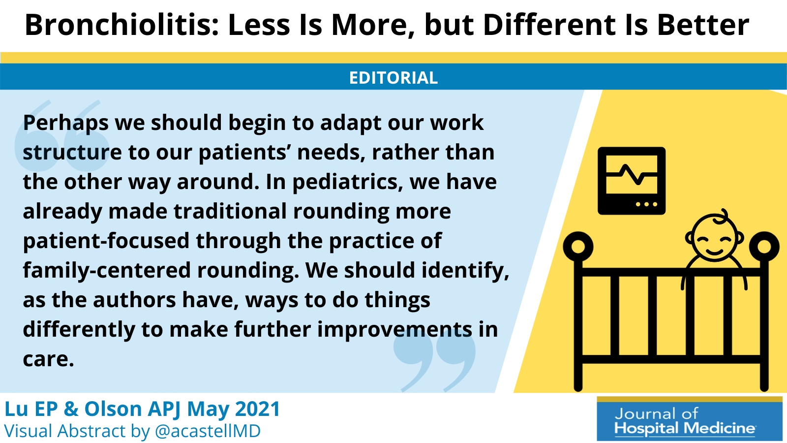 Bronchiolitis: Less Is More, but Different Is Better