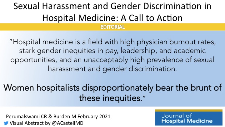 Sexual Harassment and Gender Discrimination in Hospital Medicine: A Call to Action