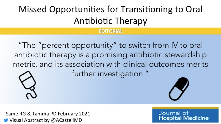 Missed Opportunities for Transitioning to Oral Antibiotic Therapy