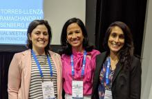 From left: Brenna Rosenberg Emery, MD; Vanessa Torres-Llenza, MD; and Gowri Ramachandran, MD, participated in the general session at the APA on the growing problem of synthetic drugs.