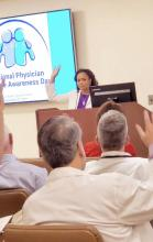 Dr. Delicia M. Haynes, founder and CEO of Family First Health Center in Daytona Beach, Fla., gives a presentation.