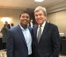 Dr. Amit Patel (left) and Sen. Roy Blunt
