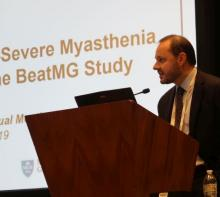 Richard Nowak, MD, assistant professor of neurology and director of the Yale Myasthenia Gravis Clinic in New Haven, Conn.