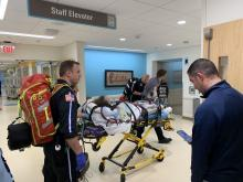 A patient with a severe vaping injury arrives at Henry Ford Health System where he received a double lung transplant.