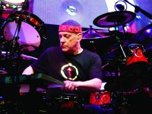 Neil Peart of Rush live in concert at the Xcel Energy Center on May 22, 2008.