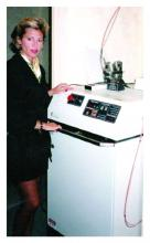 Dr. Tina S. Alster purchased the fourth pulsed dye laser ever to be manufactured. It was originally named SPTL-1 for selective photothermolysis-1. This photo was taken in late 1990 when Dr. Alster opened her practice.