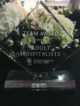 """The adult hospitalist group at Salem (Ore.) Health won the system's """"Best Team Award"""" in 2016 for most improved quality outcomes, financial performance, and patient experience."""