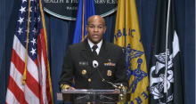 U.S. Surgeon General Jerome M. Adams announces a Call to Action on uncontrolled hypertension on Oct. 7, 2020