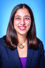 Dr. Naseem Afsar-Manesh of the Society of Hospital Medicine Public Policy Committee