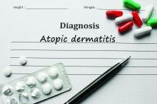 Atopic dermatitis diagnosis with pills and pen