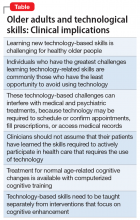 Older adults and technological skills: Clinical implications