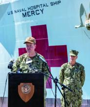 commanding officer of the Military Treatment Facility USNS Mercy