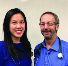 Dr. Tina Chuong (left), of Abington (Pa.) Jefferson Health, and Dr. Neil Skolnik of Jefferson Medical College, Philadelphia, and Abington Jefferson Health