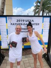 Dr. Richard W. Cohen and his daughter, Julia Cohen, secured first place in the 2019 USTA Father Daughter Clay Court Championship 6 months after his heart attack.