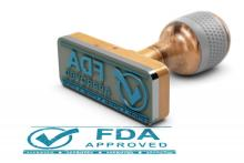 "A stamp saying ""FDA approved."""