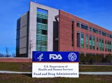 The FDA building in White Oak, in Silver Spring, MD, is shown.