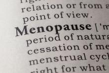 Menopause in dictionary