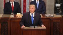 President Trump's first State of the Union address focused mostly on tax reform and immigration reform, but included a few health care initiatives.