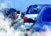 Traffic generating exhaust fumes