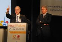 Dr. Alexandre Mebazaa, a professor of anesthesiology and resuscitation at Lariboisière Hospital, and Dr. Milton Packer, distinguished scholar in cardiovascular science at Baylor University Medical Center in Dallas