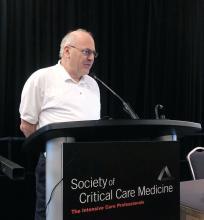 Dr. Paul E. Marik speaks at the Critical Care Congress in 2018 in San Antonio.