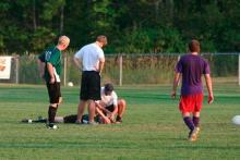 Soccer head injury