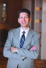 Bradley Flansbaum DO, MPH, MHM, a hospitalist at Geisinger Health System and member of the SHM Public Policy Committee