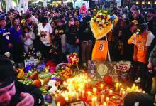Kobe Bryant memorial at Staples Center on Jan. 26, 2020.