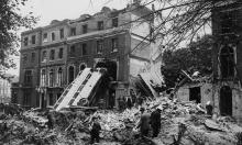 The aftermath of a German bombing raid on London in the first days of the Blitz, Sept. 9, 1940.