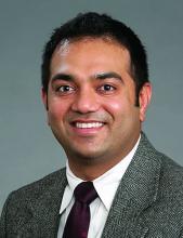 Dr. Raghava Nagaraj, medical director, hospital medicine, Lexington (N.C.) Medical Center, assistant professor, Wake Forest University, and cochair, JEDI committee for diversity and inclusion, Wake Forest Baptist Health, Winston-Salem, N.C.