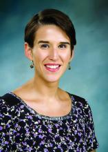 Dr. Jacqueline Posada, consultation-liaison psychiatry fellow with the Inova Fairfax Hospital/George Washington University program in Falls Church, Va.