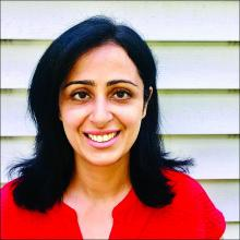 Dr. Isha Puri, a hospitalist at Lahey Hospital and Medical Center, Beth Israel Lahey Health, in Burlington, Mass