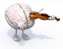 A brain plays the violin