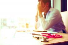 stressed doctor, burnout