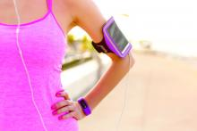 exercise with smartphone