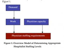 Figure 1: Overview Model of Determining Appropriate Hospitalist Staffing Levels