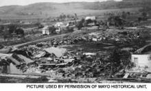 Rochester after the tornado of 1883.