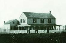 """The first Navy """"Temporary"""" Hospital on the West Coast opened in February 1864."""