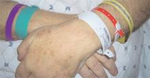 Hospitals vary widely in how they use color-coded wristbands to signal