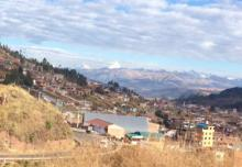 This is a view outside the city of Cusco, Peru's second largest city and a way station for travelers headed to Machu Picchu.
